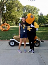 Marisa Hoenig with Buzz during her first year